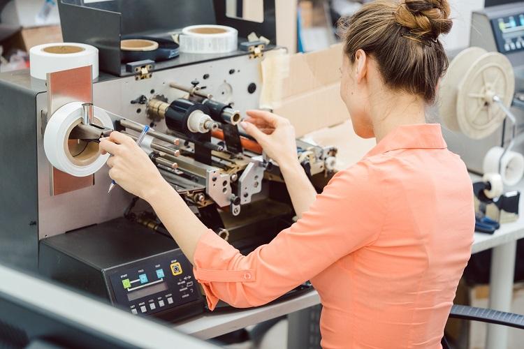 化粧品容器に添付するラベル印刷