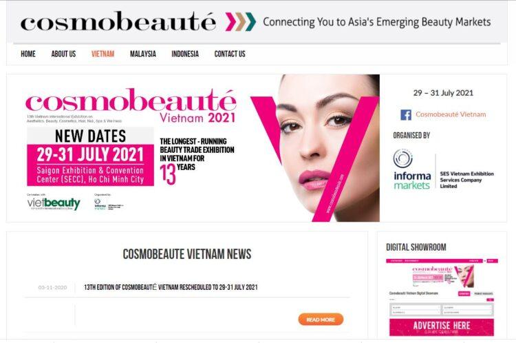 東南アジア地域の美容業界プロ向け展示会「Cosmobeaute(コスモボーテ)」