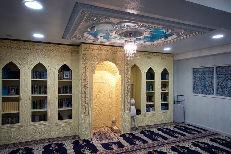 都内にある小さなモスク